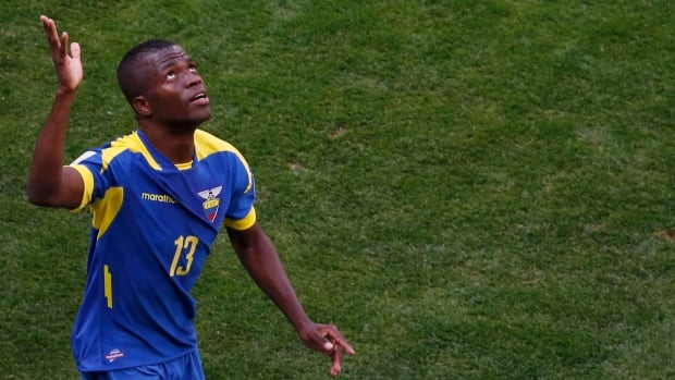 Enner Valencia says he realized a dream when he scored his first World Cup goal in Ecuador's opening match. His team will need to avoid a last-minute collapse to get by Honduras.