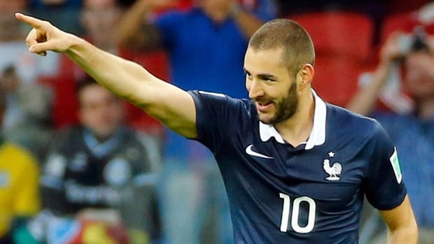 France's Karim Benzema is in the spotlight after scoring two goals in his opening World Cup match.
