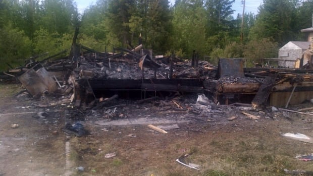 The fire completely destroyed this home at Deschambault Lake.