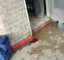 Blood on concrete
