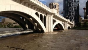 Centre St. bridge flooding