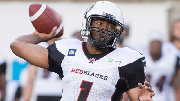 Ottawa Redblacks quarterback Henry Burris helped guide his club to a pre-season win over the Montreal Alouettes Friday night.