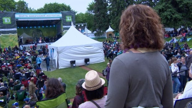 The Bessborough Gardens was the venue for opening act Colin James, part of the Saskatchewan Jazz Festival, on now in Saskatoon.