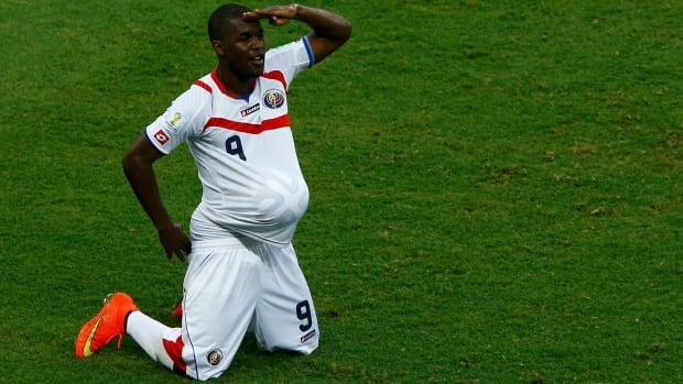 Costa Rica's Joel Campbell became famous after his baby celebration in the team's first match. After pulling off another upset, Los Ticos are earning even more supporters.
