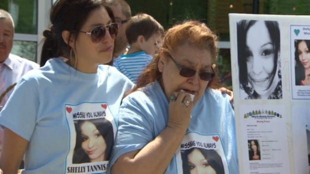 The family of Shelly Tanis Dene hosted a walk to raise awareness about her disappearance Saturday.
