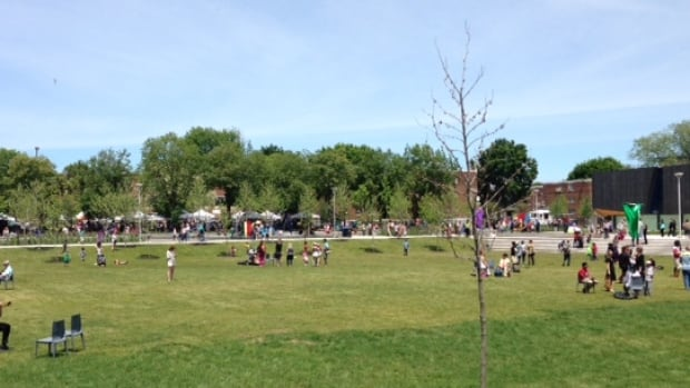 A new six-acre part has become part of the Regent Park community, opening up just in time for the first day of summer.