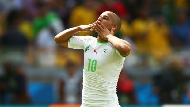 Sofiane Feghouli scored Algeria's goal in the side's loss against Belgium in its first Group H match at the FIFA World Cup.