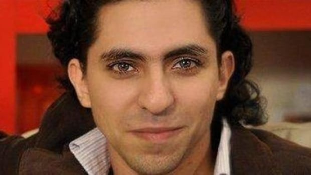 Raif Badawi was sentenced to 10 years in a Saudi Arabian jail and 1,000 lashes.