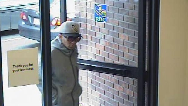 Police say the so-called 'Mummy Bandit' is suspected of robbing almost a dozen banks in Toronto, sometimes wearing disguises.