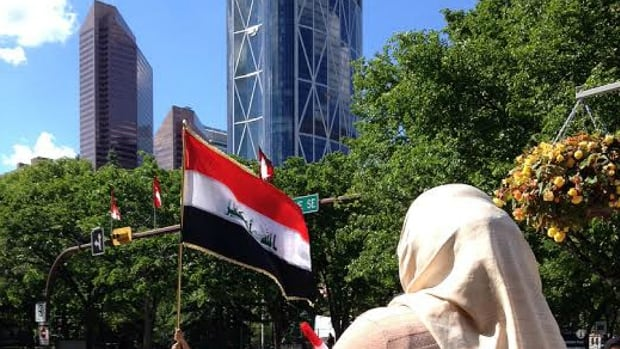 On both Saturday and Sunday dozens of Calgary Muslims gathered outside City Hall to protest ISIS violence in Iraq.