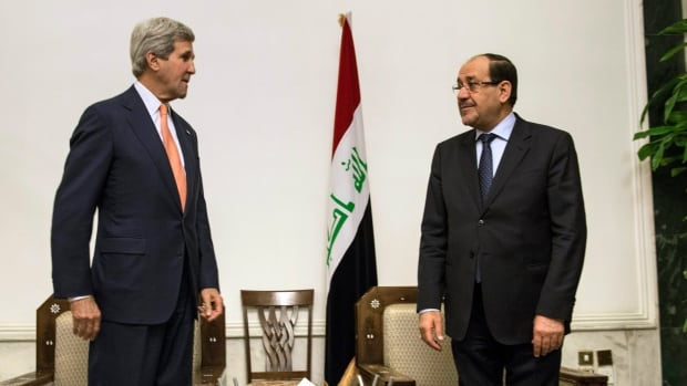 Iraqi Prime Minister Nouri al-Maliki and U.S. Secretary of State John Kerry had what has been described as a tense meeting Monday.