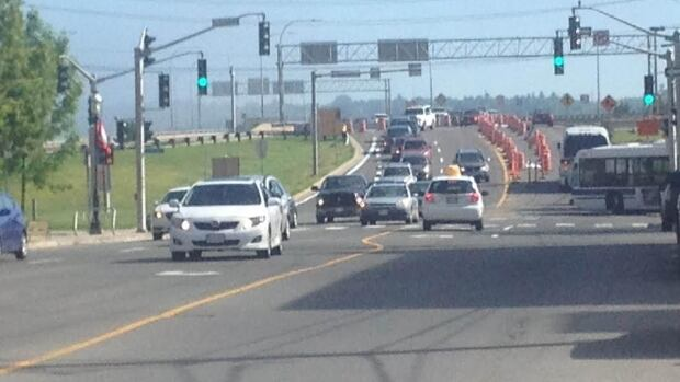 Some commuters say it took an hour or more for them to cross the Westmorland Street bridge in Fredericton as it was reduced to two lanes to allow for repairs. Work on the bridge is scheduled to continue until August 26