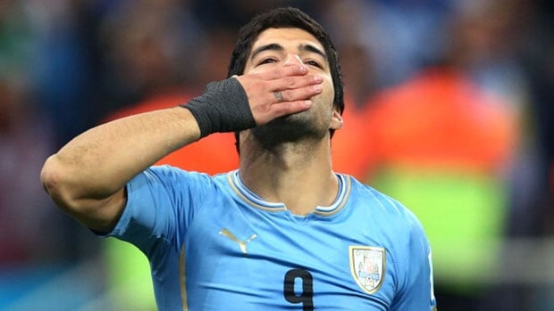 Uruguay star Luis Suarez buried England with a two-goal effort last week.