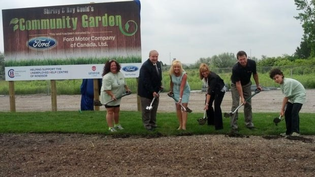 Ford of Canada has donated land to the community garden at the Unemployed Help Centre of Windsor.