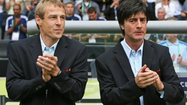 U.S. coach Jurgen Klinsmann and German coach Joachim Loew were both on the German staff in 2006. Klinsmann says there won't be any funny business in Thursday's match.