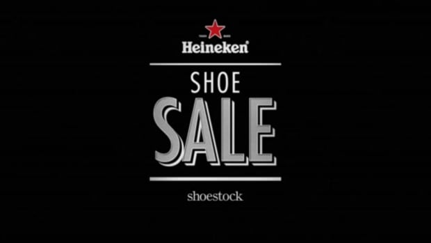 Heineken and Shoestock teamed up for a three-hour shoe sale during a championship soccer telecast.