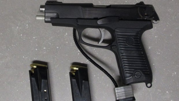 Canada boarder guards found this gun and two fully-loaded magazines in a concealed duffle bag in a man's truck.