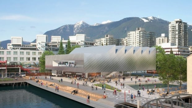 Architects' rendering of the new Presentation House Gallery to be built on the waterfront in North Vancouver.