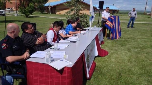 Officials with the Kainai Nation gave an update on Tuesday on recovery efforts in Blood reserve communities after last week's flooding.