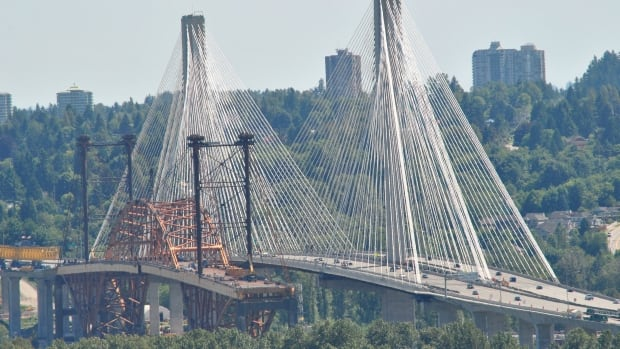 Coquitlam resident Graham Huckin photographed the two Port Mann bridges in June, 2014.