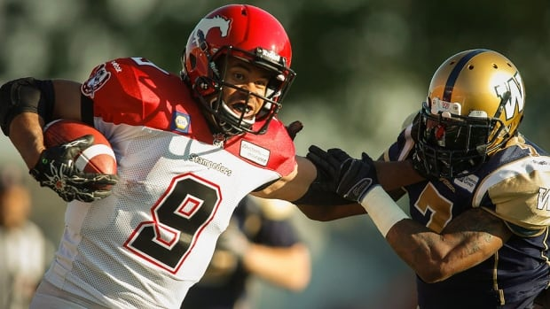 At left, Jon Cornish, the CFL's outstanding player and Canadian last season, is certainly capable of a third straight season over 1,000 rushing yards if he stays healthy. The running back is a big part of a Stampeders offence that produced a league-best 549 points last season.