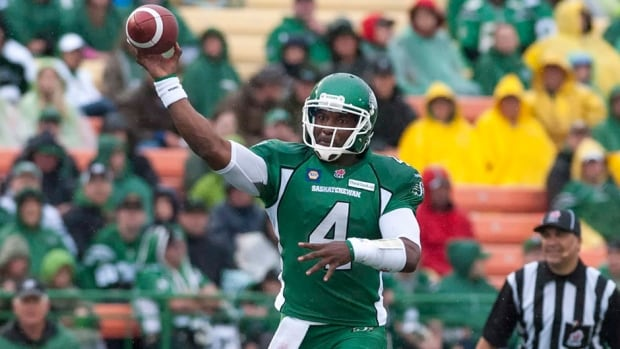Darian Durant and the Saskatchewan Roughriders are looking to repeat as Grey Cup champs in the 2014 season.