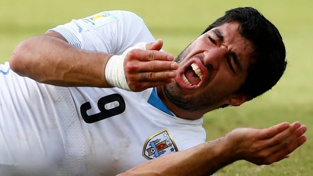 Luis Suarez bit an opponent during Uruguay's group-stage match against Italy.