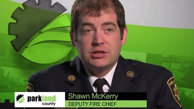 Deputy Fire Chief Shawn McKerry is one of the Parkland County officials to appear in the video.