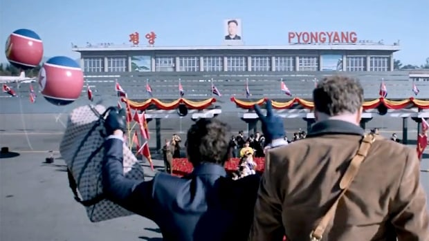 James Franco, left, and Seth Rogen appear in a scene from the fall 2014 comedy The Interview, a film that is purportedly upsetting North Korea.