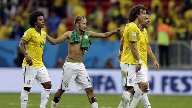 Neymar's underwear were partially exposed when he swapped shirts after the win over Cameroon. Twitter sleuths noticed that Neymar changed into the alleged illegal underpants at halftime, which appear to be in the pattern of the Brazilian flag. Some fans noticed this more than others.