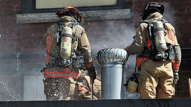 Nine fire trucks were sent to douse the flames at the G.S. Dunn Mustard factory in downtown Hamilton Thursday.