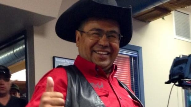 Chief Roger William of the Tsilhqot'in First Nation reacts to today's decision by the  Supreme Court of Canada. The court recognized the Tsilhqot'in First Nation's aboriginal title over a wide area of land it considers its traditional territory.