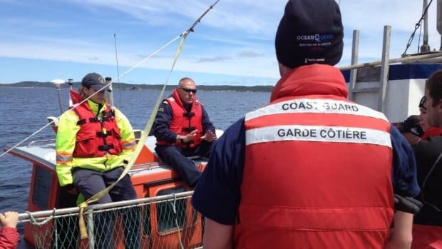 A debriefing following a Canadian Coast Guard training exercise Thursday in Notre Dame Bay on Newfoundland's northeast coast. Here participants talk about what went right, and what went wrong.