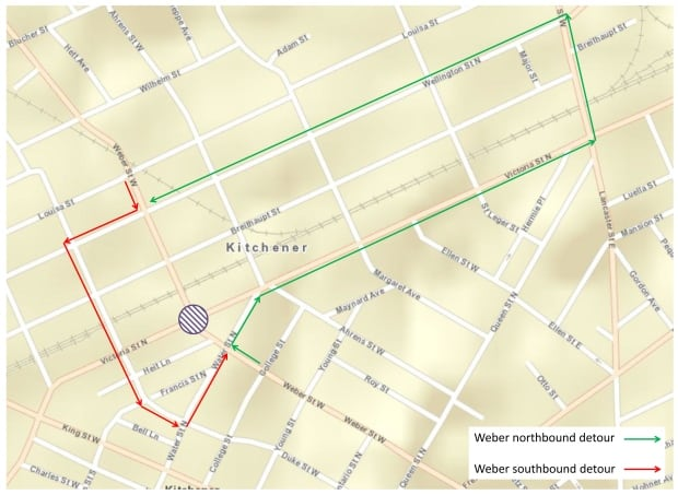 Weber Street Detour
