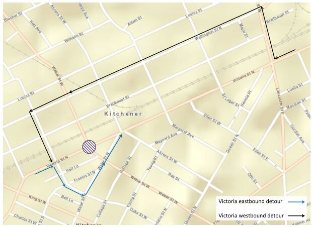 Victoria Street Detour