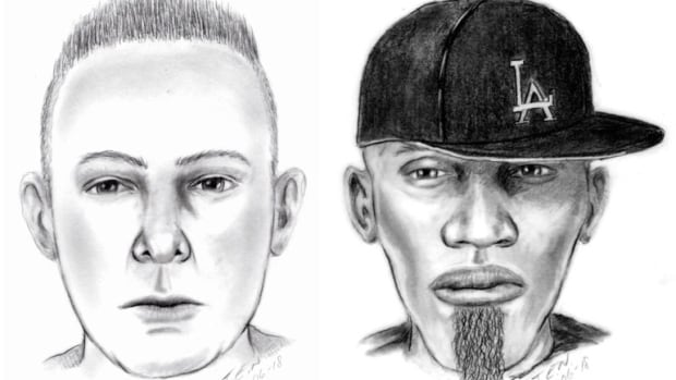 Yellowknife RCMP released these sketches of two suspects in a home invasion that occurred June 17.