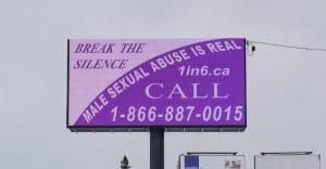 male sexual abuse billboard timmins