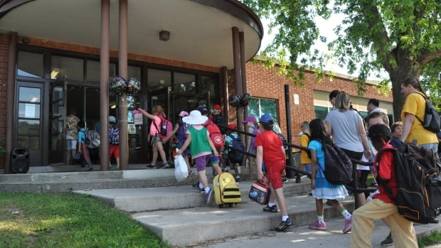 Students at Prince Philip Elementary School attend that last day of school. The 60-year-old facility will lock its doors for the last time on Friday.