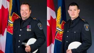 Supt. Craig MacInnes, left, and paramedic Reid Purdy