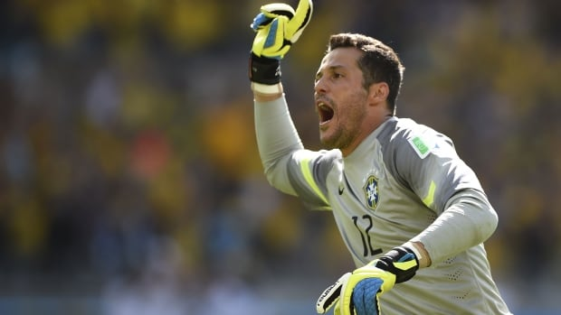 Brazil keeper Julio Cesar made two saves in the penalty shootout to help Brazil get past Chile in the teams' Round of 16 matchup at the FIFA World Cup.