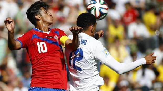 Bryan Ruiz of Costa Rica, left, has been a major factor in his team's surprise success at the FIFA World Cup in Brazil.