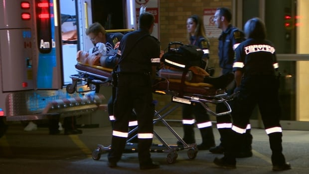 Three men were taken to hospital after a triple shooting in Toronto's northwest end early Sunday morning.