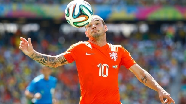 Wesley Snejder and the Netherlands faced Mexico in the knockout stage at the FIFA World Cup in Brazil.
