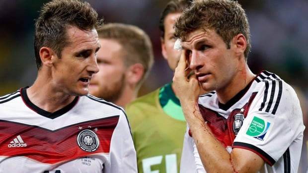 Germany's Miroslav Klose, left, and Thomas Müller are keys to their offence. Muller has four goals at the FIFA World Cup.