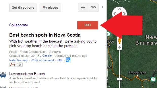 NS Beach map