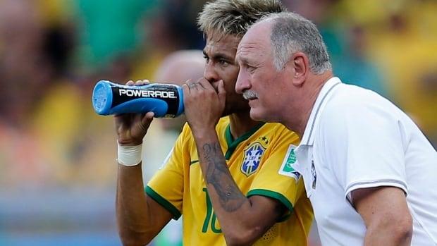 The health of Brazilian striker Neymar is a key concern for manager Luis Felipe Scolari.