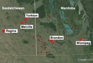 Manitoba and Saskatchewan