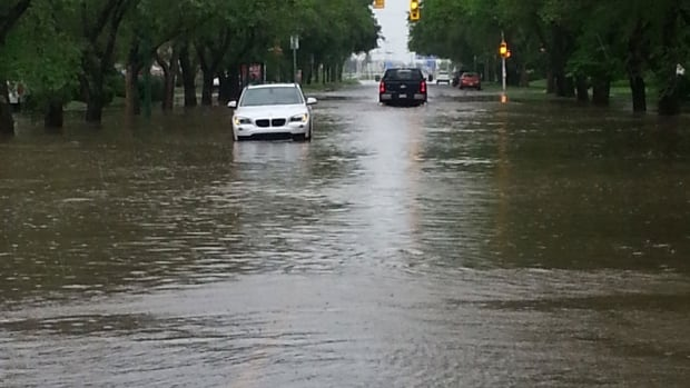 Heavy rain flooded Regina streets on the weekend and some of that water ended up in people's basements.