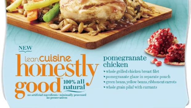 This line of Lean Cuisine frozen meals uses the '100 per cent natural' label to attract customers looking for healthy options.