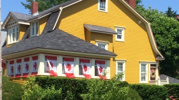 A house on Douglas Avenue in Saint John, N.B., decked out for Canada Day.